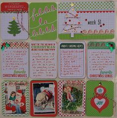 "Project Life: Week 51-2013. I used the ""Merry and Bright"" mini kit."