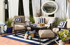 Summer is here! Using versatile outdoor furniture can change the look of your patio.