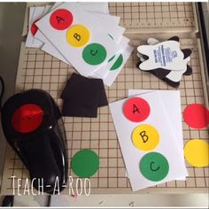 Teach-A-Roo - paper stop lights with magnets. The author lists several ways to use them. Pretty cool ideas!