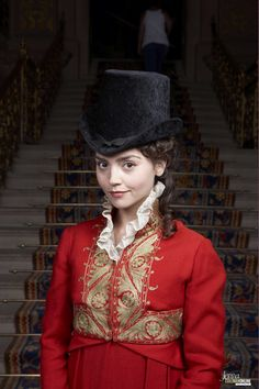 "Jenna Coleman: publicity still from ""Death Comes to Pemberly."""