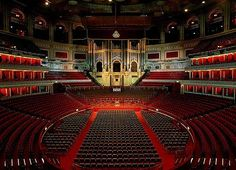 Royal Albert Hall, interior, London, England. I would love to see a performance…