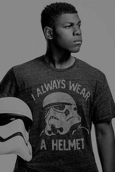 John Boyega... Finn is probably one of my favorite characters in Star Wars, now.