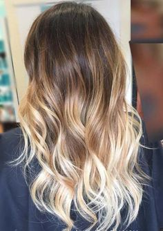 50 Hottest Ombré Hair Color Ideas of On dark-brown hair, here's another of my favorite ombré hair color ideas for The style is long, with a center-parting and defined, tousled wa. Ombre Blond, Best Ombre Hair, Natural Ombre Hair, Long Ombre Hair, Beige Blonde, Golden Brown Hair Color, Brown Hair Colors, Brown Hair With Ombre, Brown Hair Balayage