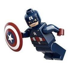 Lego Super Heroes Captain America Minifigure #LEGO #legofigurines #CaptainAmerica