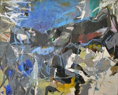 From Denver Art Museum, Perle Fine, Summer I Oil paint and collage on canvas, 57 × 70 in Abstract Expressionism, Abstract Art, Poetry Painting, Women Artist, Oakland Museum, Action Painting, Spring Art, Art Moderne, Museum Of Modern Art