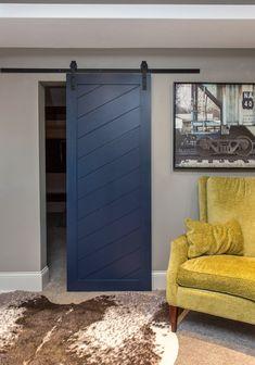 Diagonal Slatted Barn Door In Paint Grade Doors Interior Sliding Barn Doors, Sliding Barn Door Hardware, Sliding Doors, Door Hinges, Rustic Hardware, Door Latch, The Doors, Wood Doors, Entry Doors
