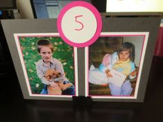 Photo table numbers :  wedding baby pictures decor table numbers