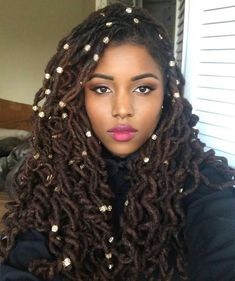 New Natural Hairstyles, Dreadlock Hairstyles, Black Women Hairstyles, Locs, Sisterlocks, Art Afro, Curly Hair Styles, Natural Hair Styles, Beautiful Dreadlocks