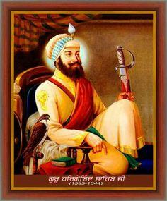 Guru Hargobind Sahib Ji was born at village Guru Ki Wadali (district Amritsar)… Guru Angad Dev Ji, Guru Hargobind, Guru Nanak Ji, Guru Tegh Bahadur, Sikhism Religion, Guru Arjan, Guru Granth Sahib Quotes, Sufi Saints, Marshal Arts