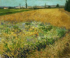 Van Gogh Painting - Wheatfield by Vincent van Gogh