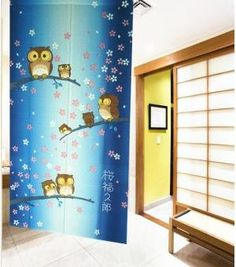 Owl And Snowflake Japanese Noren Door Curtain JOY Christmas Door Decorating  Contest Pictures YangFan YangFan Http://www.amazon.com/dp/B00ISJDP66/refu003d  ...