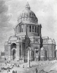 Alternate/Unbuilt classical architecture   Liverpool Cathedral by Reilly