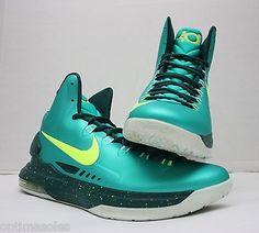 Nike Zoom KD V 5 Size 11.5 - Green White Yellow - Incredible Hulk - 554988 300