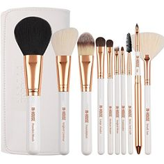In-House Beauty Professional Makeup Brushes (10-Piece Set) Soft, Synthetic Fibers