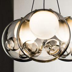 Bocci Chandelier // Glass blown chandelier designed by Omer Arbel