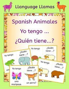Spanish Animals Yo tengo ... Quien tiene...?... by Llanguage Llamas | Teachers Pay Teachers