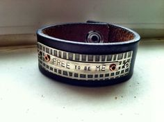 Free To Be Me Leather Cuff by ssdjewelry on Etsy, $64.00