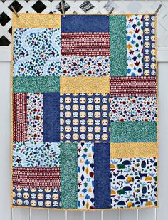 Now on our Downloads Page, you can find this beautifully rich and quite simple quilt pattern called Forest Collage by Maureen Cracknell. Once you've checked that out you can pop over to Maureen's popular blog to enter a chance to win a fat quarter bundle of Steffie Brocoli's In the Forest collection.