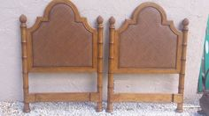 FAUX BAMBOO TOMMY BAHAMAS STYLE CANE  TWINS HEADBOARDS #Unbranded #TOMMYBAHAMA