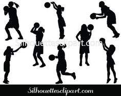 Playing Sports #Silhouette #Vector (40) #sports
