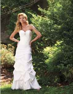 Gentle Niveous Sweetheart Beads Pin Floor Length Ruched Organza Satin Wedding Dress for Brides