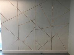 A feature wall like this might work well to the left of the sinks? Could still hang large abstract later if wanted. Interior Walls, Modern Interior, Wall Cladding Interior, Cafe Interior, Wall Panel Design, Modern Art Deco, Wall Molding, Wall Finishes, Wall Treatments