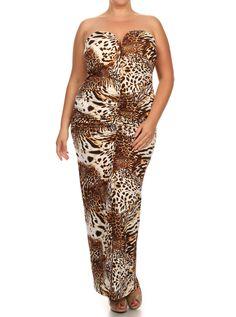 Plus Size Cat Walk Mermaid Maxi Dress