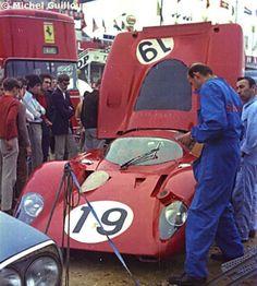 1969 - Le Mans - Ferrari 312P SN 0868/0872 - Drivers Chris Amon, Peter Schetty - DNF (accident) © Michel Guilloux
