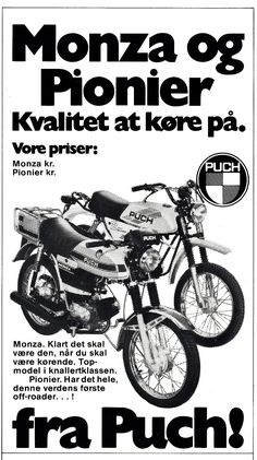 Moped Scooter, Steyr, Off Road, Amazing Cars, Brochures, Scooters, Yamaha, Motorcycle, Ads
