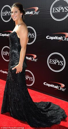 Similar styles:USA women's soccer player Hope Solo and Carli Lloyd shimmered in black and...