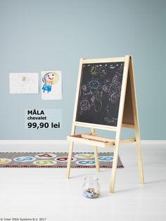 Copiii învață mai ușor prin joc, iar chevaletul MÅLA e partenerul lor de nădejde.