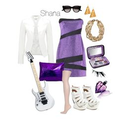 """""""Shana of Jem & The Holograms"""" by grace-mscc ❤ liked on Polyvore featuring Pinko, Forever New, Jeffrey Campbell, Funky Bling, Chanel, Urban Decay, Japonesque, Dorothy Perkins, Diesel and Witchery"""