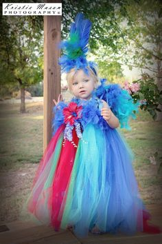 Infant/Toddler Parrot Tutu Dress and by frillsfromtop2bottom, $70.00