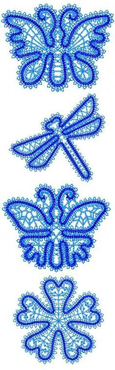 Advanced Embroidery Designs - FSL Battenberg Lace Miniature Set