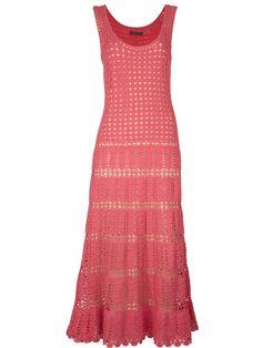 Crochetemoda: Vestido de Crochet Rosa