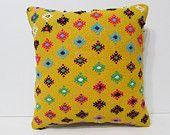"""decorative pillow case 18"""" ethnic pillow cover vintage fabric indie fabric pattern pillow cover burlap throw pillow decorative rug red 23648"""