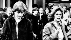 Lady Diana Spencer & Camilla Parker Bowles at Ludlow Races where Prince Charles was competing, 1980.