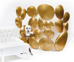 Paravento moderno / in legno / dorato GOLD BOCA DO LOBO