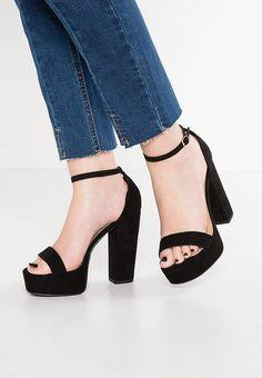 New Look Wide Fit WIDE FIT TESSY - Sandali con tacco - black a € 34. Zalando  Shop 1e52c1874a2