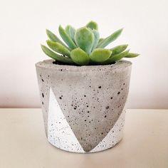 Concrete Planter - Small on Etsy, 13,86€