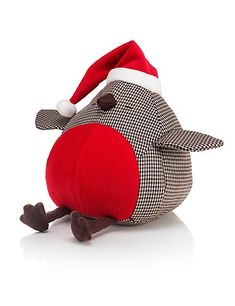 Buy the Robin Door Stop from Marks and Spencer's range. Diy Doorstop, Doorstop Pattern, Sewing Toys, Sewing Crafts, Sewing Projects, Christmas Sewing, Felt Christmas, Felt Crafts, Christmas Crafts