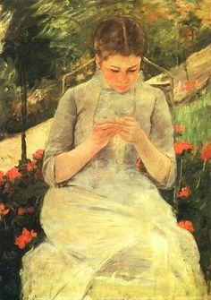 Mary Cassatt - Ragazza che cuce