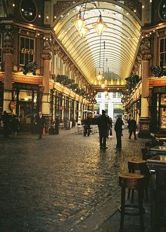 Leadenhall Market, London.  Fun fact : this is where they film the Diagon Alley scenes in the Harry Potter movies.