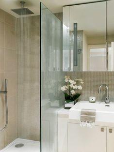petite-salle-de-bains-idées-originales-aménagement-paroi-transparent-robinet