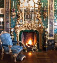 Anne Getty's home is heavily influenced by the Chinoiserie style