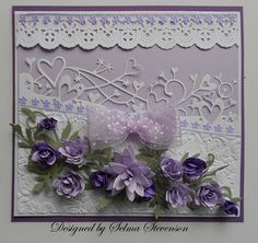 Very pretty lavender card. Could be made with pressed lavender too.