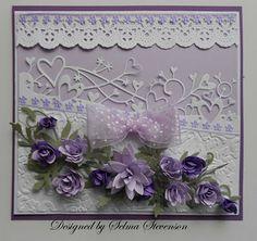 Very pretty lavender card.