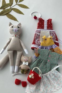 Animal Sewing Patterns, Doll Patterns, Sewing Dolls, Diy Rag Dolls, Cat Doll, Cute Toys, Child Doll, Soft Dolls, Doll Crafts