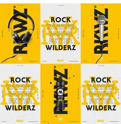 Rockwilderz ENT – Visual Identity on Inspirationde Poster S, Poster Layout, Typography Poster, Typography Design, Coperate Design, Layout Design, Print Design, Logo Design, Brochure Design