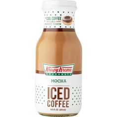 Mocha Iced Coffee ❤ liked on Polyvore featuring food, food and drink, drinks, accessories and filler